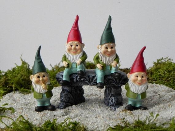 Miniature Gnomes Miniature Fairy Garden Or Gnome Garden