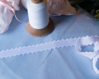 Swiss Embroidery Edging - White
