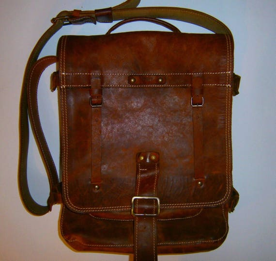 Laptop Vertical Briefcase, Vintage leather Handmade bag, Messenger Bag, Made to order Bag, Made to order Briefcase,