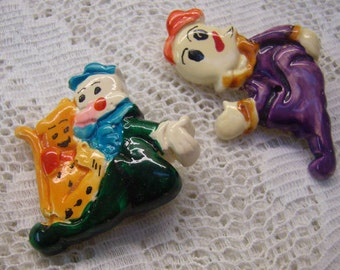 "Sale...Vintage ""LISA FRANK"" Popeye Pins...Sweet Pea...Orange Cat...KFS Inc. Pins...Circa 1970s...Two Lisa Frank Pins"
