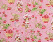 READY to SHIP Pillow Bed with Strawberry Shortcake fabric, Princess Nap Mat,  Pillow Mattress, Sleepover Bed