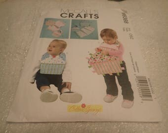 McCall's Crafts  Pattern # M6368, Baby,Infants. Toddlers, Bibs, Burp Cloths, and Ribbon Toys,  PATTERN ONLY- DESTASH