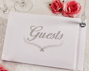 Wedding Guest Book Ceremony Reception Keepsake Leave Some Love Silver Guest Book Party Supplies