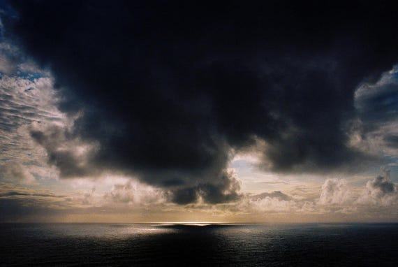 Dark Cloud at Sea in Iceland. 11x17 Handmade Fine Art Print. Signed by Ryan Muirhead