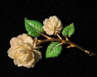 Pretty JJ Flower Brooch