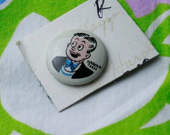 Harold Teen Vintage Pin Back Button from 1940's Kellog Cereal
