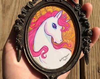 Sunburst Unicorn Petite Painting