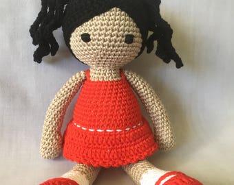 Sweet Little Crochet  Doll