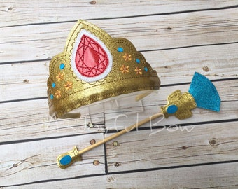 Elena dress up tiara and septor, princess elena, elena of avalor birthday, party dress up, photo booth props
