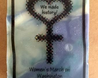 Women's march soap,souvenir soap,women's march,nasty woman,hillary clinton,feminist soap,commemorative soap,inauguration,nevertrump