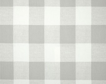 Custom Shower Curtain // Grey and White Buffalo Check // Plaid // Stall// Choose Size // Buttonholes// 72 x 72 // Extra Wide Shower Curtain
