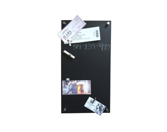 Magnetic Chalkboard w/ Office Organizer Magnet Kit-Chalk Lightbulb Checkmark Arrow Email At-Practical Board Planner-Steel w/ Resistant Paint