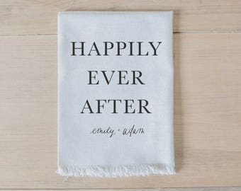 Personalized Napkin - Happily Ever After
