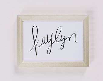 Custom Calligraphy Print - Calligraphy Name