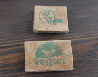 Set of 2 Vegan Rubberstamp