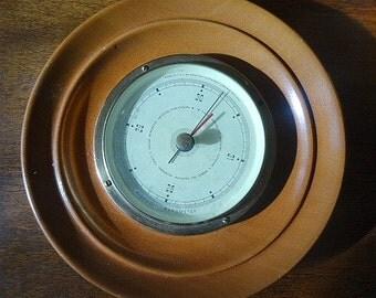 Mid Century AirGuide Barometer Mid Century Wood Framed