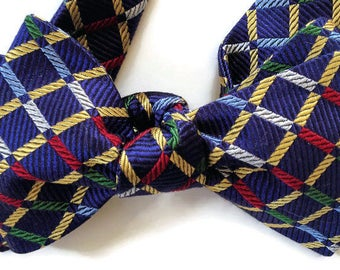 Silk Bow Tie for Men - Country Roads - One of-a-Kind, Handtailored, Self-tie - Free Shipping