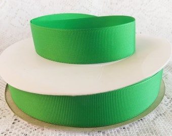 Green ribbon 1 inch green grosgrain ribbon green polyester 1 inch  ribbon