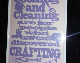 Cooking and Cleaning Paper Cut Art