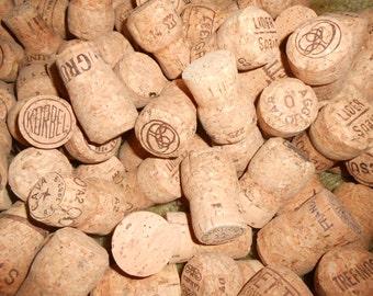 50 Natural Champagne Corks, Bulk Cork, Cork for Crafts