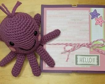 Crochet octopus and album