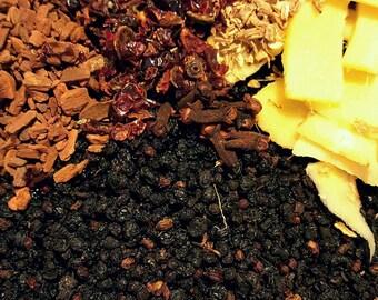 Elderberry Syrup made with Organic Elderberries, ginger, cinnamon, rosehip, clove