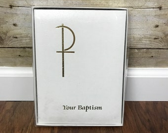 Vtg Your Baptism Photo Album, Baptism Folio, Baptism Album, Baptism Keepsake, Baptism, Prayer, White, Abbey Press,Memory Book, Remembrance