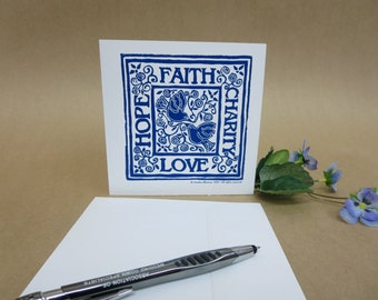 Faith Hope Charity Love - Note Cards (set of 4 with verse inside) © 2000. All rights reserved.