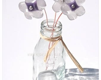 Glass fused flowers D