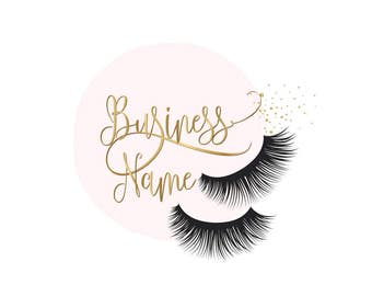 Custom logo design , lashes logo, eye lashes beauty logo, makeup logo, gold lashes logo design, gold pink beauty logo, graphic design lashes