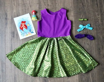 Mermaid Inspired Twirl Dress