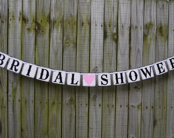BRIDAL SHOWER BANNER Rustic Banner  Bridal Shower Banner Wedding Banner - Engagement Party Decoration - Photo Prop