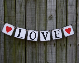 Valentine's Day Valentine Day Decor  Valentine's Decoration Love sign Heart Garland Valentines Bunting Valentines Sign XOXO Photo Prop