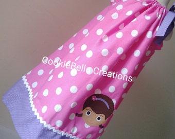 Doc McStuffins Pink & Lavender Polka Dot Pillowcase  Dress