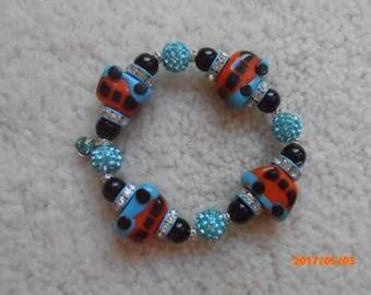 WHEELS ON The BUS!  Beaded Bracelet