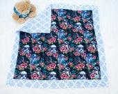 Floral Wars minky baby blanket-Large