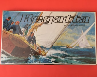1967 Regatta Yacht Racing Board Game- 3M Sport Game- Complete