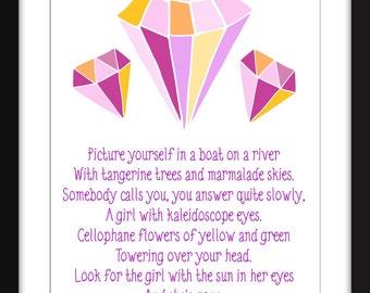 lucy in the sky with diamonds lyrics pdf