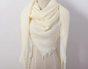 Cream Blanket Scarf, Oversized Blanket Scarf, Winter Scarf, Christmas Gifts, For Her, For Girls, For Mom, Womens Scarf, Fashion Scarf