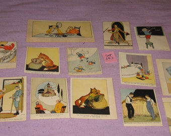 Story book pages, The Real Story Book, Margaret Evans Price, Framing,14 pieces , empherma, Playroom, Vintage pages, (Set 5)