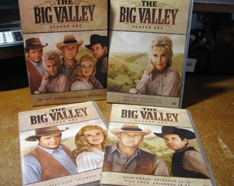 The Big Valley, Season One, DVD, 5 disc set, includes all 30 season one episodes. 1965