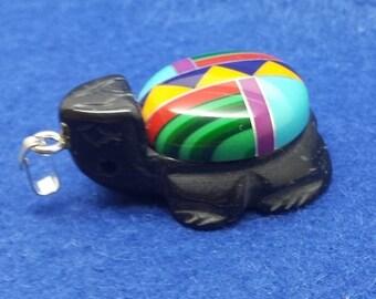 Zuni Inlayed Turtle  Size --30x20mm