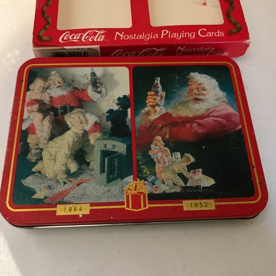 vintage coca cola nostalica double deck playing cards. Black Bedroom Furniture Sets. Home Design Ideas