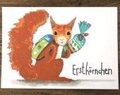 Erstklässler Karte Eichhörnchen Erstklässler Einschulung