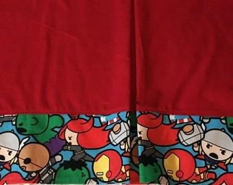 Superhero crib bedding - crib skirt