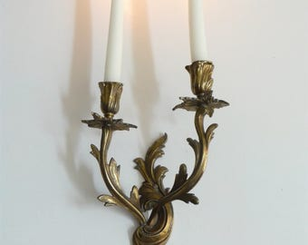 Decorative Large French Antique Candle Sconce