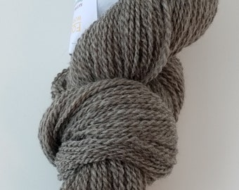 Yarn, Natural Grey, soft bluefaced leicester, worsted weight.