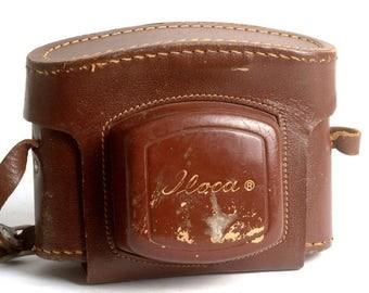Vintage Leather Iloca Rangefinder Camera Case 35mm Cameras