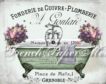 digital art graphicsvintage french and von frenchpapermoon auf etsy, Hause ideen