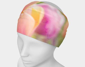 Women's Wide Fabric Headband, Neck Scarf, Versatile Headwrap, Workout Headband, Functional Art, Photo Headband, Fashion Art, Floral Headband